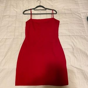 Lulus Flaunt It Red Bodycon dress
